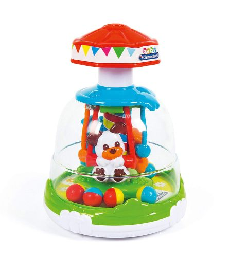 Childrens Multicoloured Animal Fun Park Spinner by Clementoni